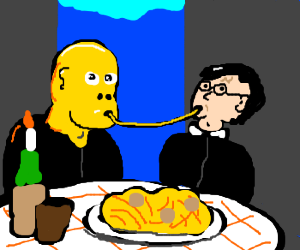Lady and the Tramp starring Harry & Voldemort.