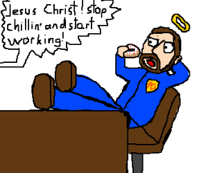 Jesus is now a crime fighter.