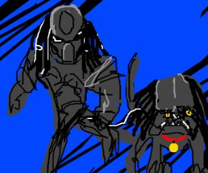 Predator walking his Preda-Dog