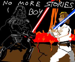 Vader reads Luke a horrific bedtime story