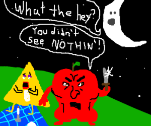 moon discovers apple and triangles secret love