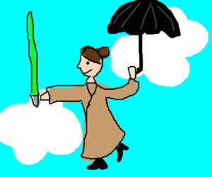 Mary Poppins turns Jedi