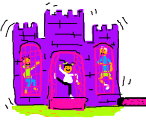 Jumping in the Jumpee castle... happy happy