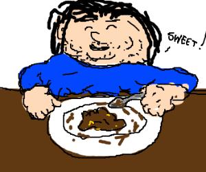 MorbidlyObeseGuy has Colon Diabetes+sweetpoo