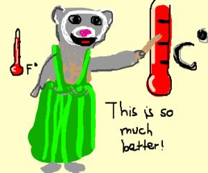 ferrett-weathergirl likes Celcius-scale