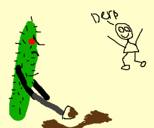 Cactus digs hole to trap derp