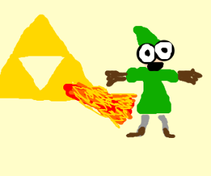 triforce burning link