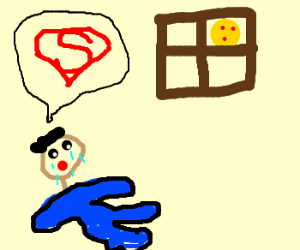 Sad king wishes he were Superman