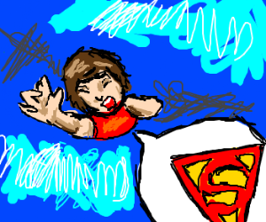 Kid calls for Superman while eaten by blueblob