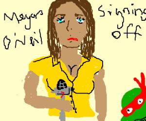 Megan Fox as April O'Neil in MB's TMNT
