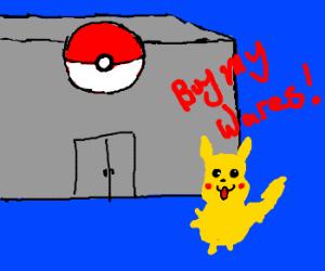Pikachu Opens New Pokemon Dept. Store!