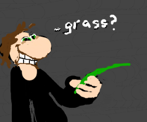 Shifty Man Offers you a Blade of Grass