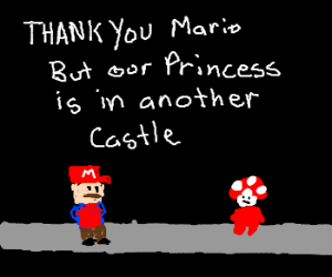toad says princess is in other castle