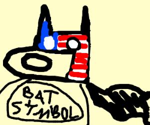 Batman with an american flag mask