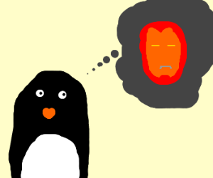 Penguin dreams to becomeAsAwesomeAs Tony Stark