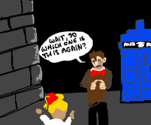 Dr. Who argues with fangirl about his lover