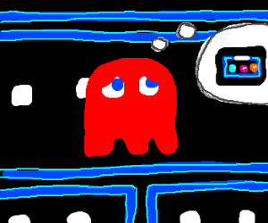 red ghost (pacman) only wants to go home