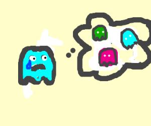 pac man monster misses its friends