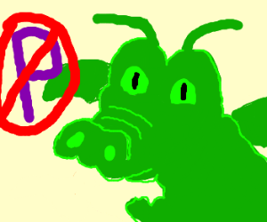 Dragons hate the letter P