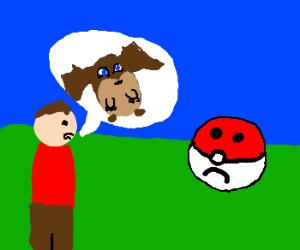 guy confuses sad pokeball to digimon