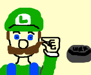 Luigy, number one, waxes his moustache.