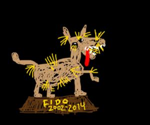Failed dog taxidermy