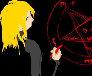 Blonde satinist