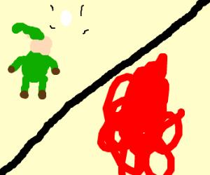 Epic duel between Link and Gannondorf