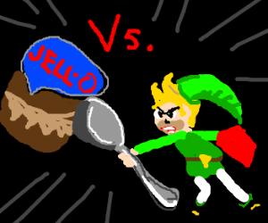 Link vs the Jello Pudding Snack