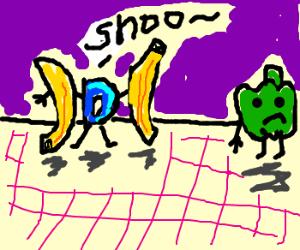 Drawception likes bananas, not bellpeppers.