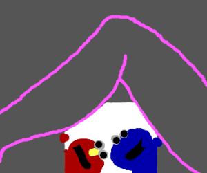 Elmo and Cookie Monster visit strip club