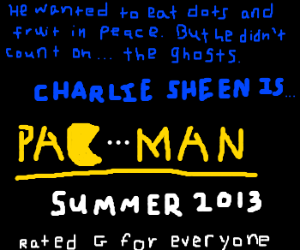 pac-man played by an idiot.