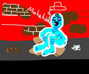 homeless dr manhattan laughs creepy