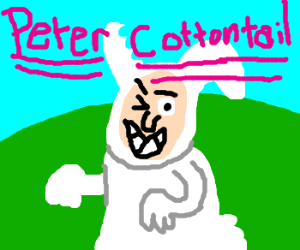 Peter Cottontail is at it again