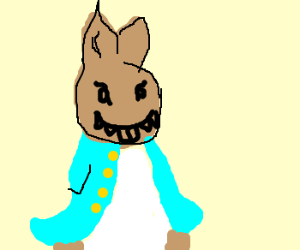 Peter Cottontail with evil grin >:D