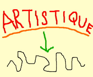 Artistic black squiggly line