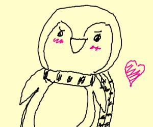 penguin in scarf