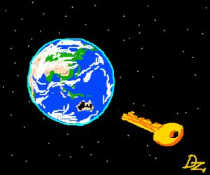 Australia is actually a giant keyhole!