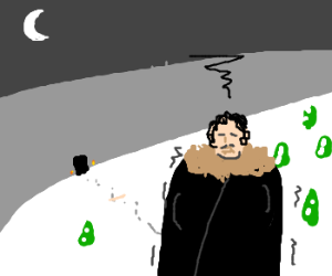 A cold Jon Snow regrets joining Night's Watch