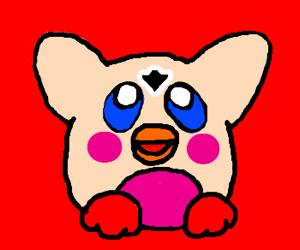 Kirby Furby is extra creepy today!