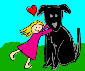 I love my big black dog