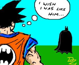 Goku upset he isn't Batman