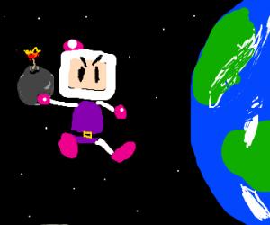 Bomberman prepares to destroy Earth