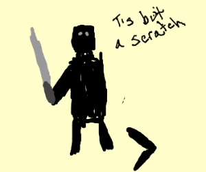The Black Knight that denied his wounds