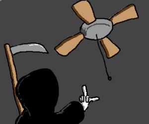 Evil necromancer male drawception death curses ceiling fan aloadofball Gallery