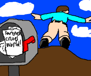 Cliff has a mailbox for jumpers' faewell notes