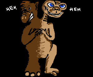 Evil conjoined twins: Alf and E.T.
