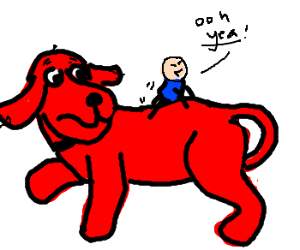 Clifford gets dry-humped by tiny master