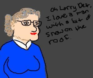 Larry King interviews Mrs. Doubtfire