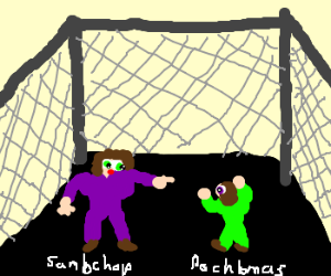 Sambchop and her evil twin in a cage match